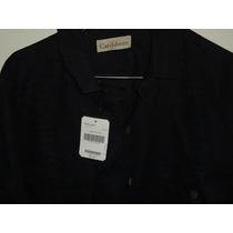 Camisa Caribbean Hawaiana Guayabera 100% Lino Nueva Talla L