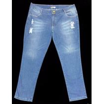 Calça Feminina Jeans Peq. Defeito Tamanho Grande 52 54 7043