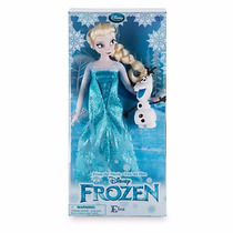 Muñeca Elsa Classic Y Olaf Frozen Disney Store Envio Gratis!