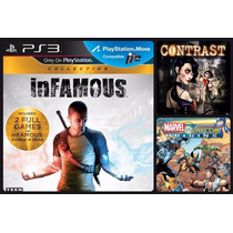 Infamous Collection Ps3 + Marvel Vs Capcom Origin + Contrast