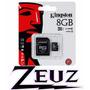 Memoria Micro + Sd 8gb Kingston Clase 10 (berazategui)