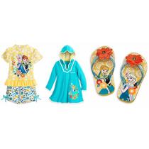Frozen Ana Y Elsa Set De Traje De Baño 7/8 Años Disney Store