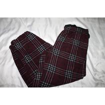 Croft & Barrow Pantalon Pijama Caballero Cuadros Vino Tall M