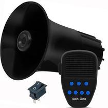 Sirene Automotiva 7 Tons Sons Policia Bombeiro Microfone Som