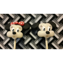 10 Brochette Mickey O Minnie En Porcelana Fria