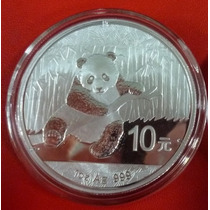 China Moneda De Plata Proof Oso Panda 10 Yuan 2015