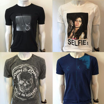 Camiseta Calvin Klein Jeans Masculina One Gola V Sergio K