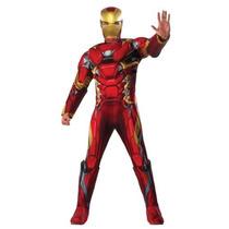 Disfraz Lujo Iron Man Hombre Traje Adulto Civil War