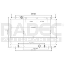 Radiador Neon 00-04 L4 2.0 Lts 4 Velocidades Automatico