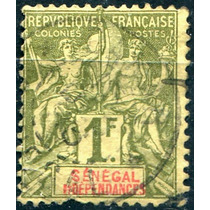 0976 Senegal Comercio 1 Fr Usados 1892-03