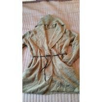 Saco/abrigo/cardigan Importado D Chenille Con Capucha Y Lazo
