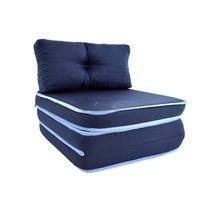 Puff Conforto Fa Maringá 3 Em 1 Azul