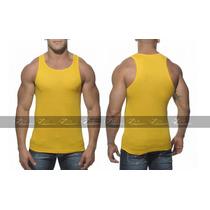 Regata Gola Camisas Blusas Camiseta Masculina Tank Cavada
