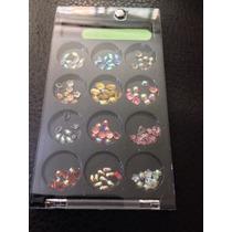 120 Piedras Para Uñas Con Caja