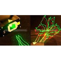 Mini Projetor Hl22 Laser Holográfico Com Raios Festas E Djs