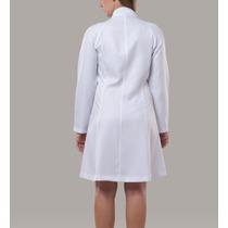 Jaleco Feminino Gabardine Branca Dentista Estética Médica