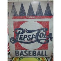 Pepsi Cola Base Cartel Metalico Vintage Retro Antiguo Poster