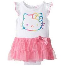 Hello Kitty Enterizo Con Falda Rosado Y Blanco 9 Meses