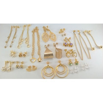 Semi Jóias Folheados Ouro Prata Kit Atacado Exclusivo 25 Pçs
