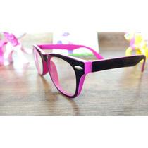 Armacao Oculos Infantil Menina Moda Gatinha Crianca Rosa