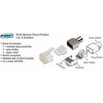 25 Plug Blindado Amp Rj45 Cat6 5-1375204-4 Utp Ftp Stp