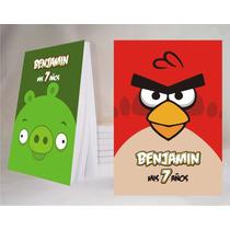 Angry Birds Souvenir Anotador Personalizado X32!!!