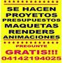 Arquitecto Proyecto Maqueta Presupuesto Render Animacion