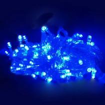 Serie Navideña De 100 Luces Led, Luz Azul 10 Metros