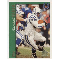 1997 Topps Minted In Canton Marshall Faulk Colts Rb
