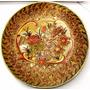 Prato Passaro Floral Em Porcelana Chinesa Pintado Á Mão 26cm