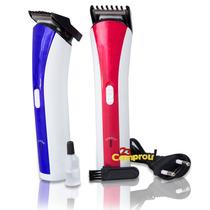 Máquina Barbeador Profissional Recarregável Aparador Bivolt