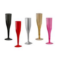 Copas Champagne Plástico Brindis Boda Fiesta Xv Bar Navidad