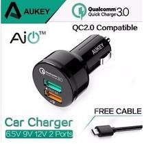 Cargador Carro Auto 3.0 Aukey,super Rapido Fast Charger 2016