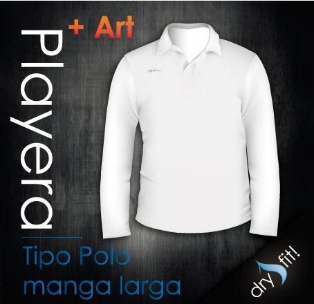 Playera Tipo Polo Manga Larga Dry Fit Con Logotipo Gratis ... 4fc082f7d96c6