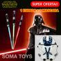 Star Wars Espada Laser Luz Retráctil + Mascara Stormtrooper