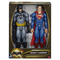 Batman Y Superman Mattel Original 30 Cm Combo