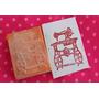 Sello Artesanal Maquina De Coser Scrapbooking Tarjeteria