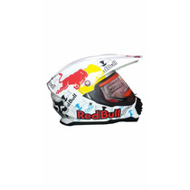 Capacete Helmet Cross Off-road Red Bull Mrc Branco