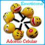 Adorno Para Celular Emoticons: Plug Antipolvo Con Diseño