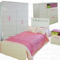 Dormitorio Juvenil Cama Placard Comoda Mesita De Luz Mosconi