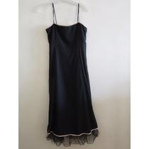 Vestido De Fiesta De Vevú Negro -oportunidad-