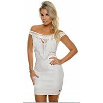 Vestido Off White De Bandagem Com Franj Max Glamm Ref 77072