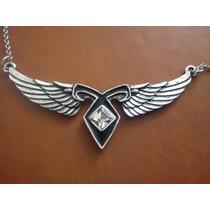Collar Runa Angelical Con Alas De Angel Cazadores De Sombras
