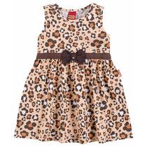 Vestido Infantil Malha Oncinha Laranja Tam. M, G E 1 Kyly