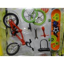 Mini Bicicleta E Skate De Dedo E Acessorios