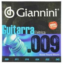 Encordoamento P/ Guitarra 09 Giannini + 1ª Mi Extra