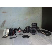 Sony Camara Con Flash Sony Y Accesorios Excelente Estado.