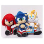 Sonic The Hedgehog - Peluches Felpa Sonic Tails Knuckles C/u<br><strong class='ch-price reputation-tooltip-price'>$ 9.990</strong>