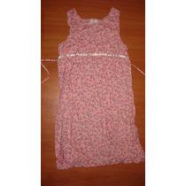 Vestido Rosa Floreada De Verano Para Nena Importada
