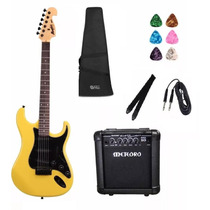 Kit 11 Itens Guitarra Tagima Strato Mg32 Cubo Meteoro Capa